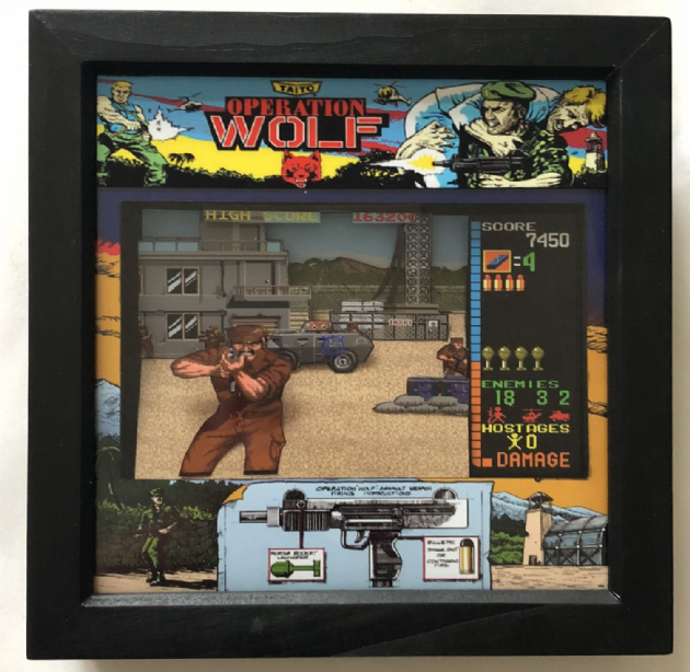 OPERATION WOLF  Arcade Art  3D Shadow Box